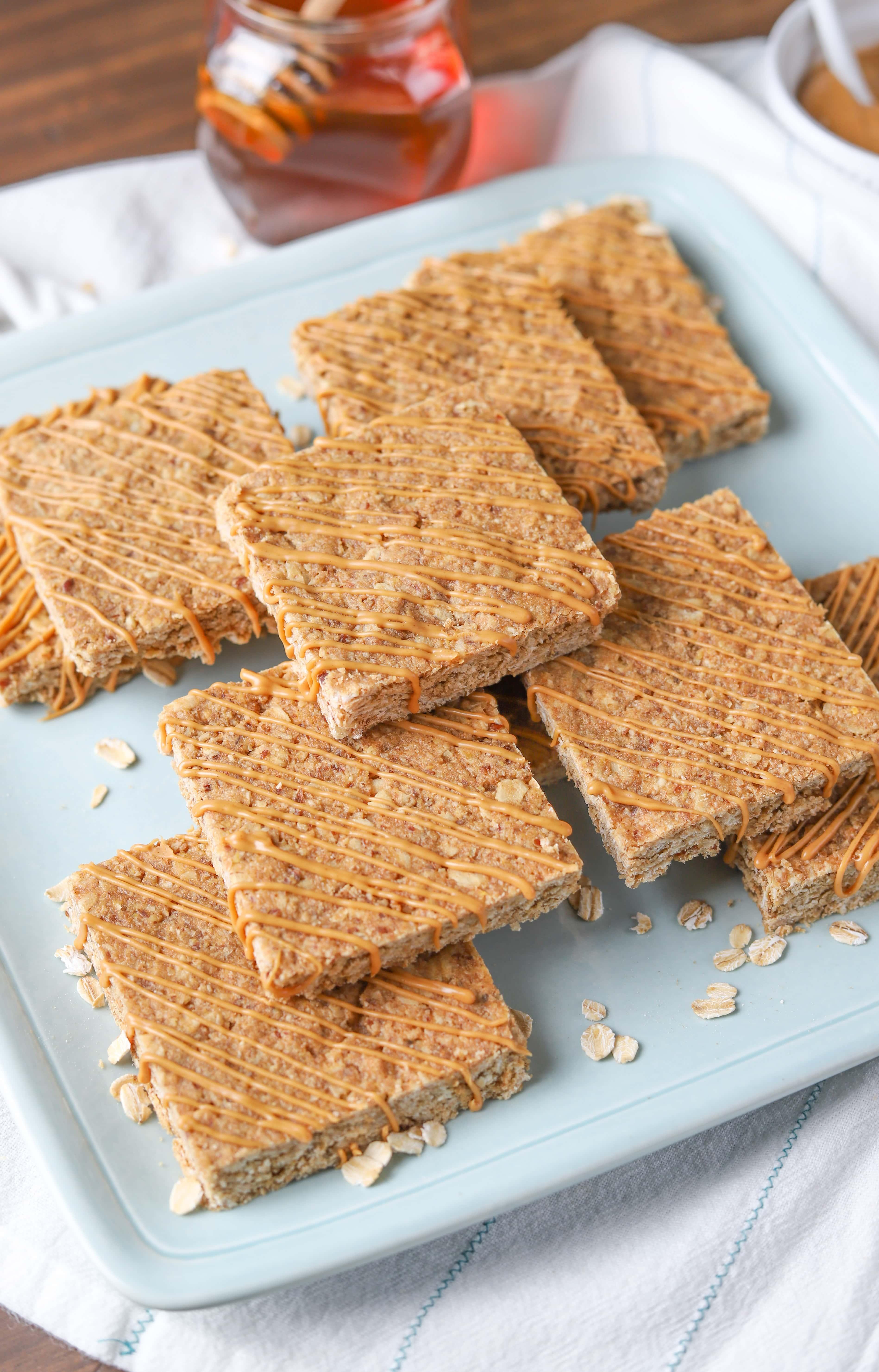 Easy Soft Baked Peanut Butter Granola Bars