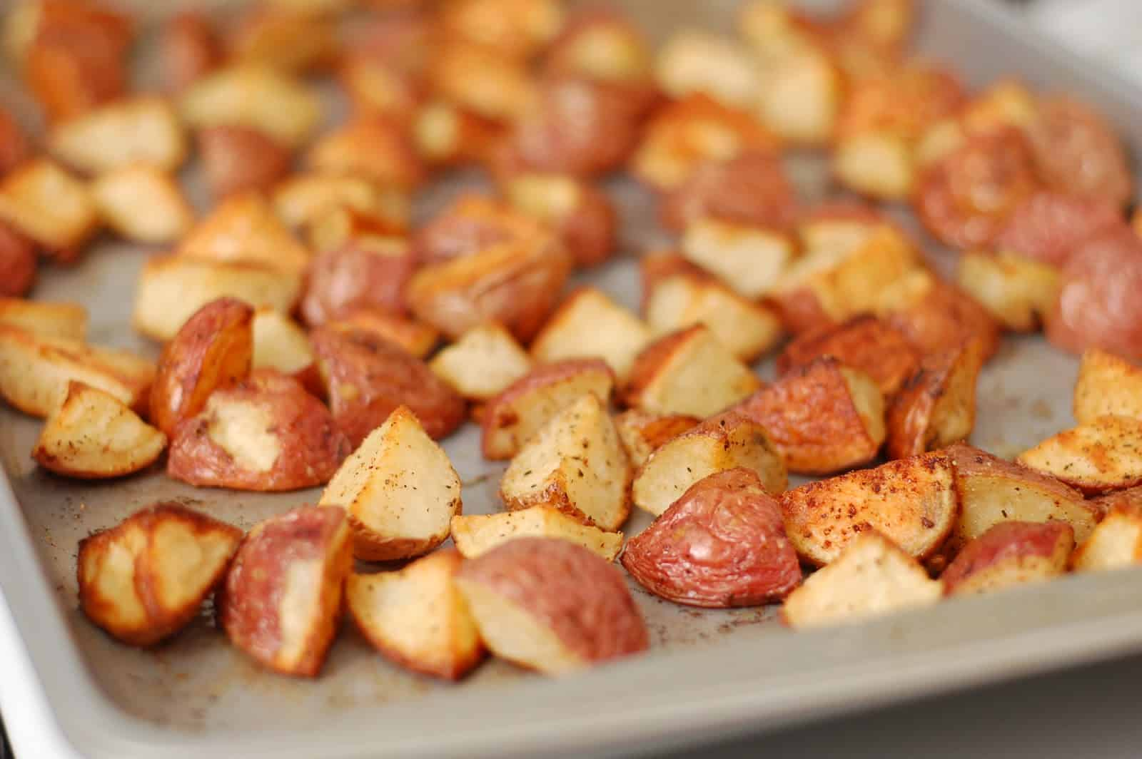 Roasted potatoes are such a versatile dish. You can serve them with ...