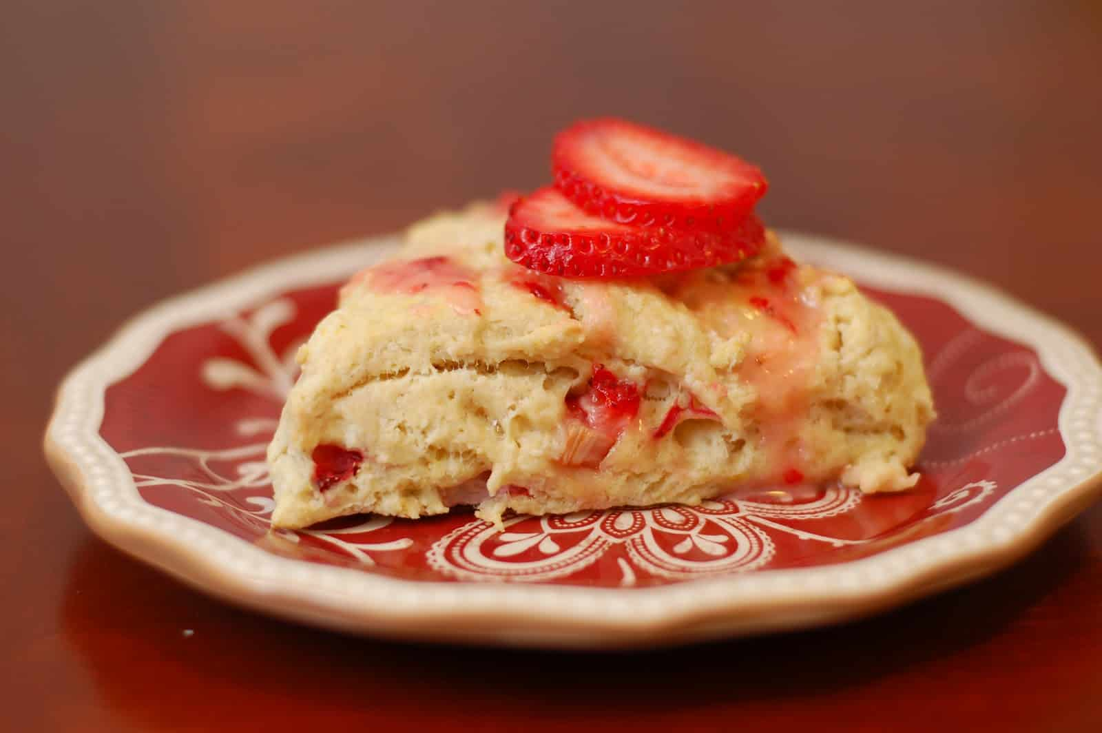 Fresh Strawberry Scones with Lemon-Strawberry Glaze - A Kitchen ...