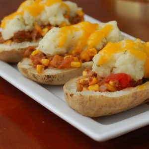 Makeover Mexican-Style Loaded Baked Potatoes