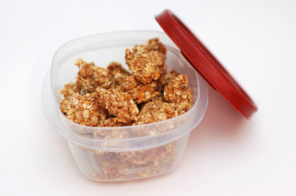 Peanut Butter Granola Bites - A Kitchen Addiction