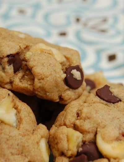 Peanut Butter Chocolate and Banana Chip Cookies