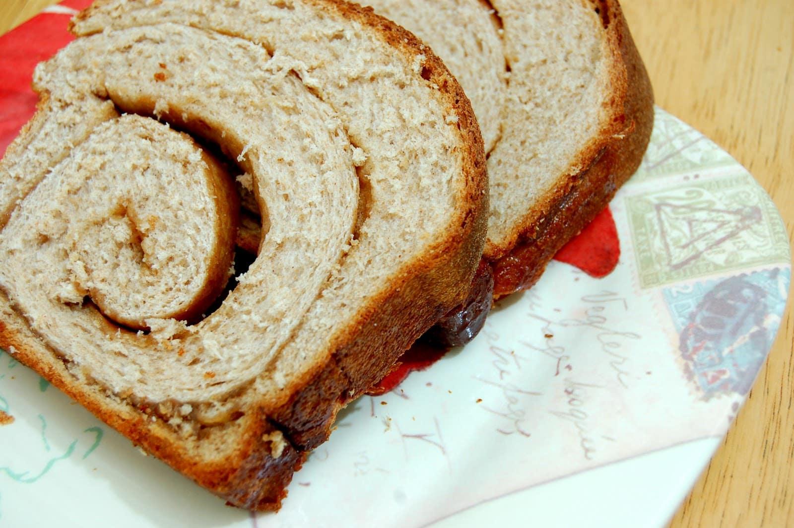 Simply Amazing Cinnamon Swirl Wheat Bread - A Kitchen Addiction