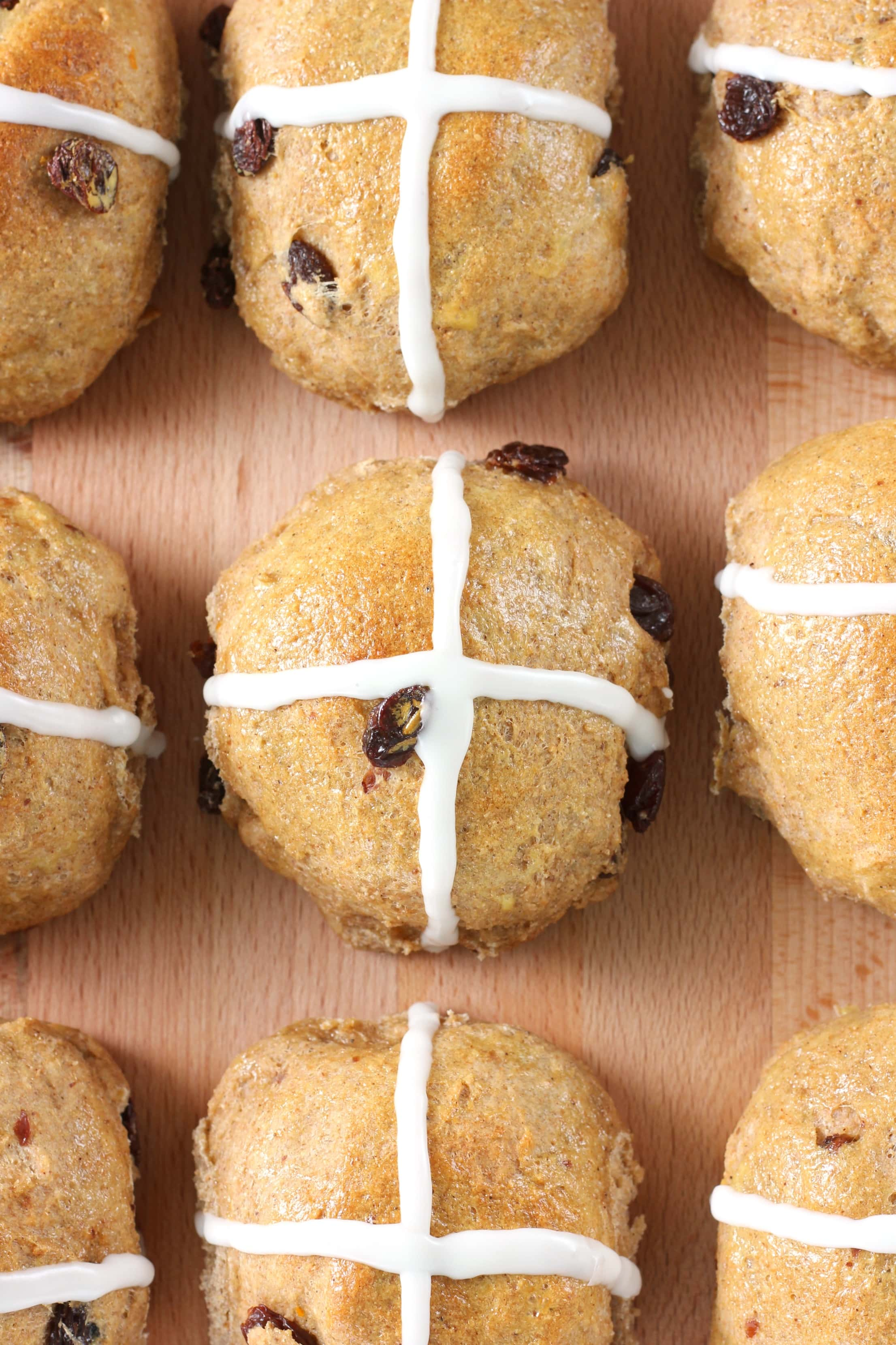 Whole Wheat Hot Cross Buns Recipe from A Kitchen Addiction