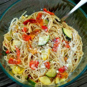 Grilled Sweet Pepper and Summer Vegetable Pasta Salad