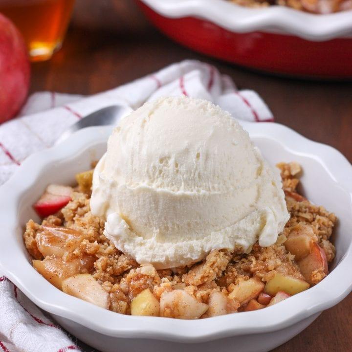 Apple Peanut Butter Crisp