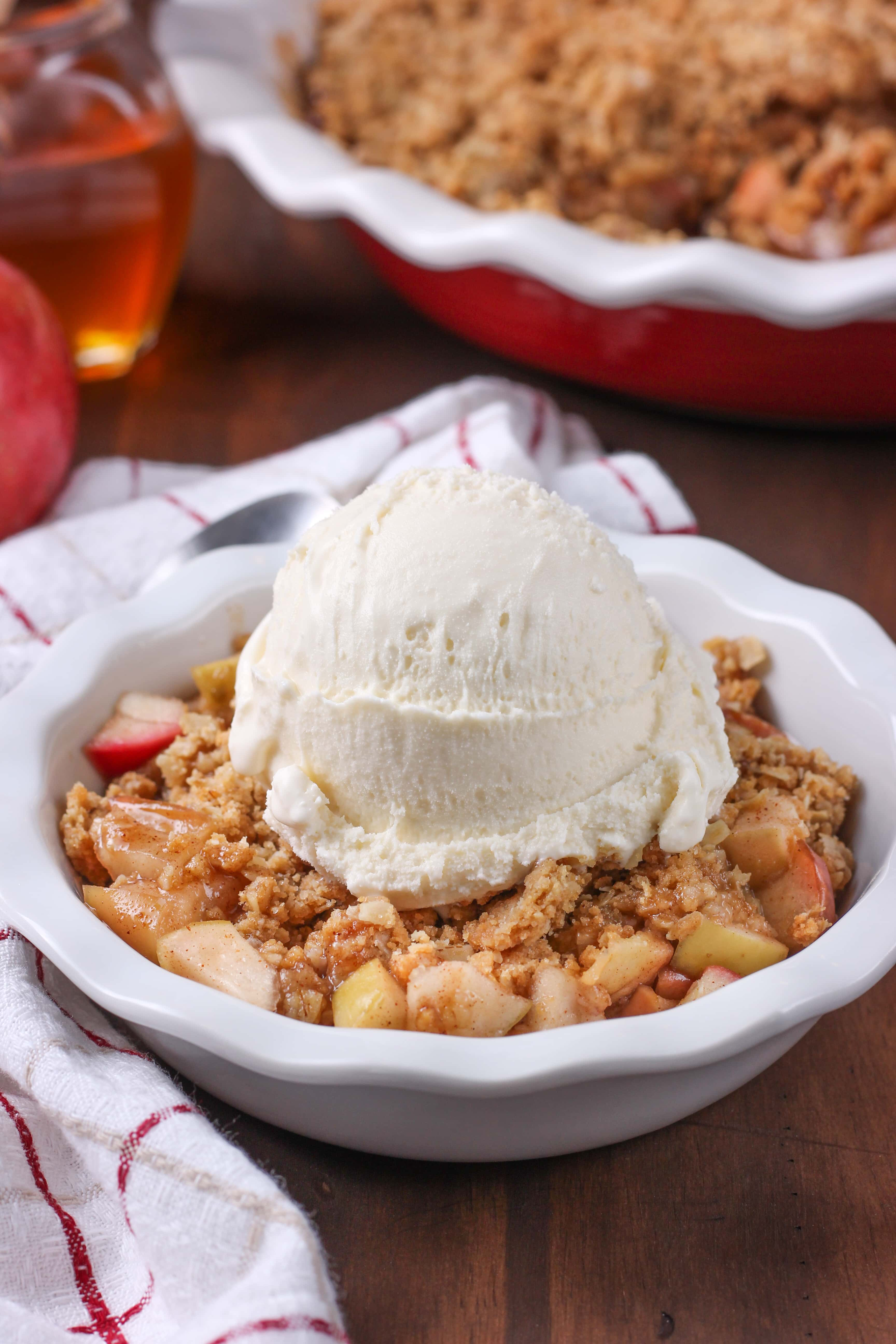 Apple Peanut Butter Crisp Recipe from A Kitchen Addiction