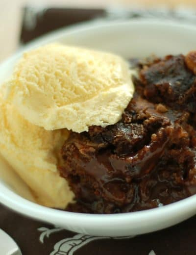 Rich Chocolate Peanut Butter Pudding Cake