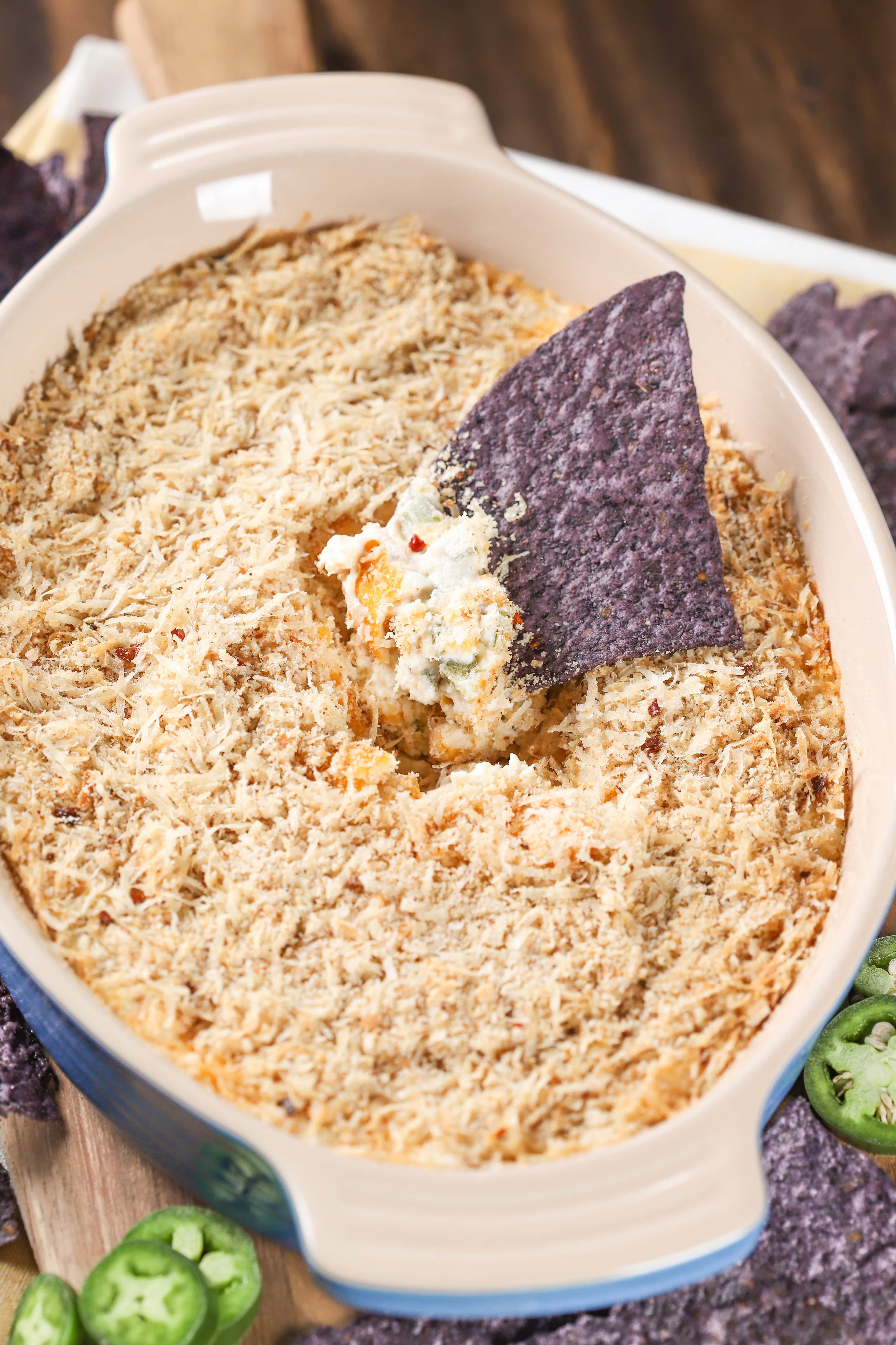 Jalapeno Popper Dip made in the oven or microwave