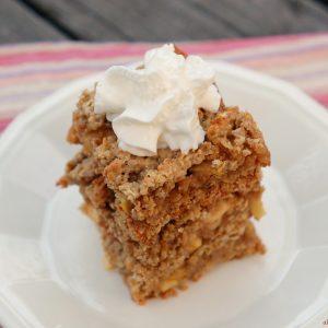 Caramel Apple Oatmeal Cookie Bars