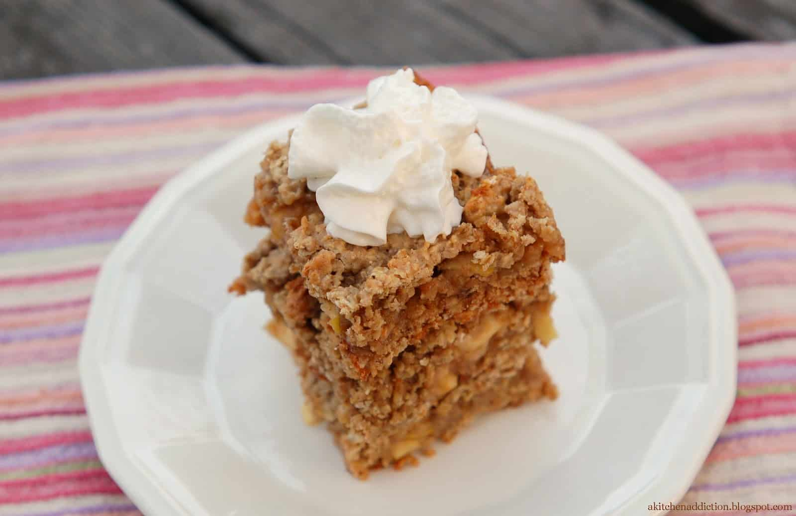 it to make these cookie bars that taste like apple pie! These bars ...