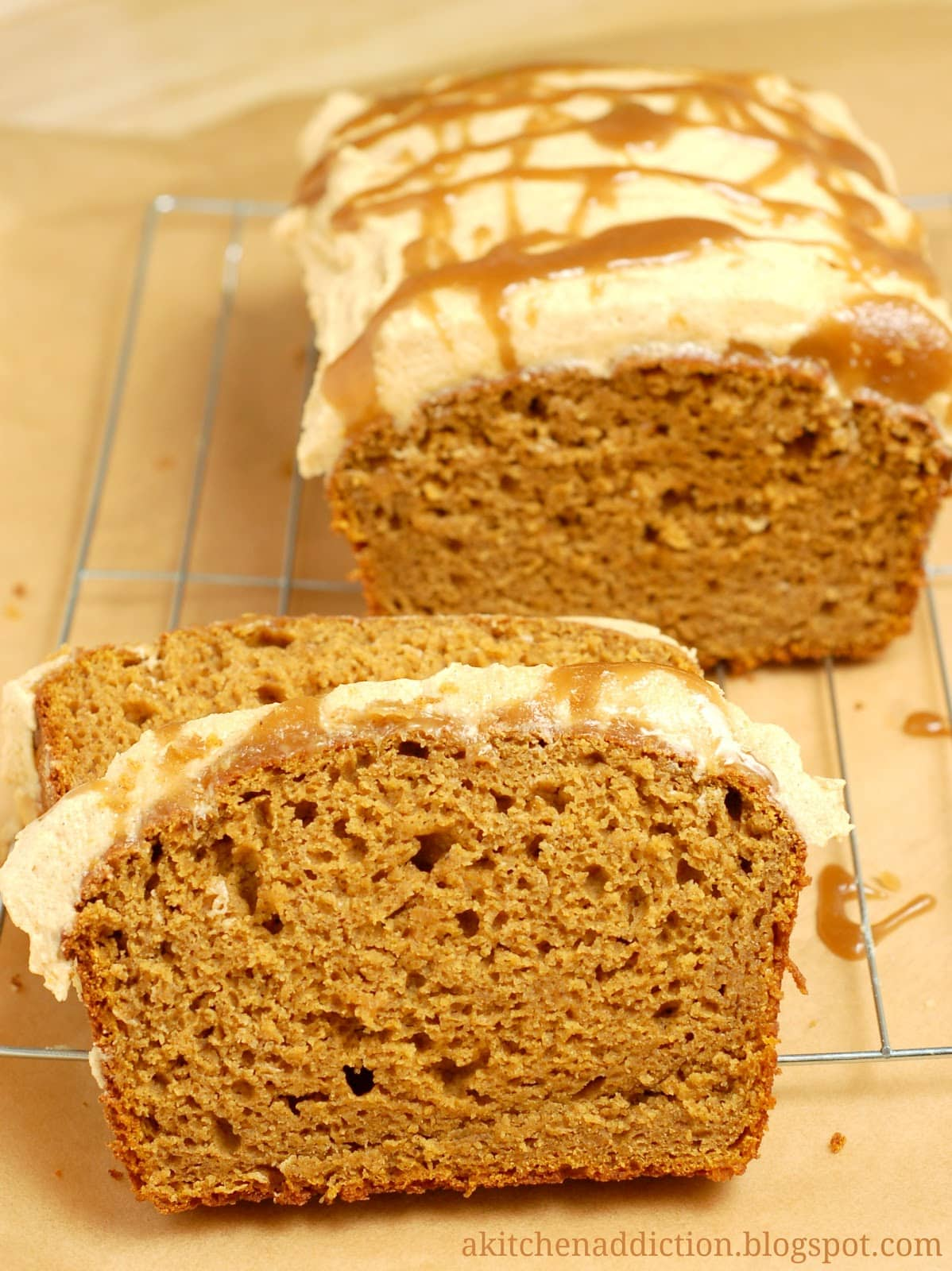 Pumpkin Bread with Salted Caramel Drizzled Pumpkin ...