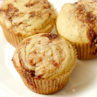 Raspberry and Cinnamon Almond Swirled Muffins