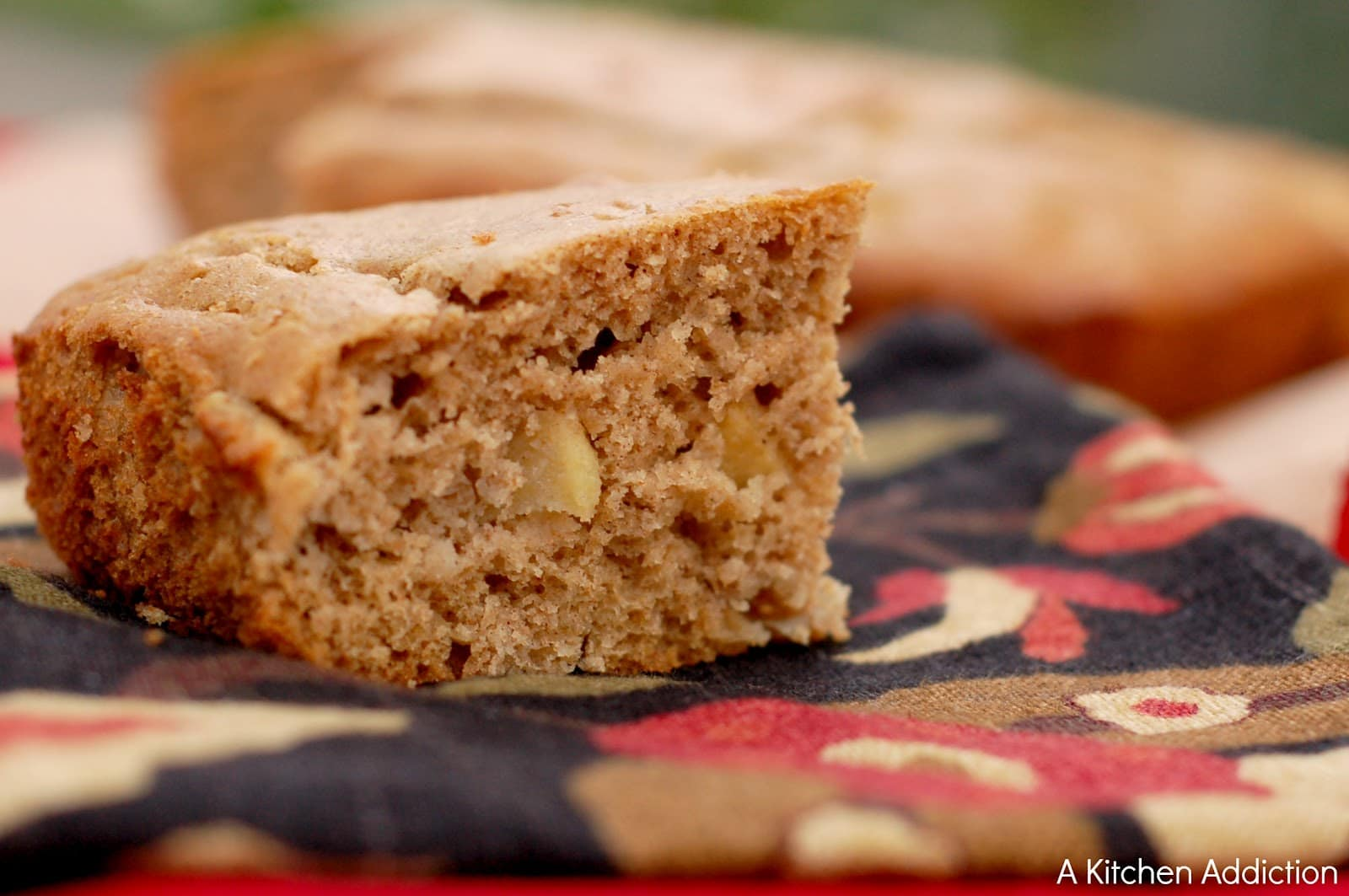 Brown Butter Apple Yogurt Snack Cake {Whole Wheat}