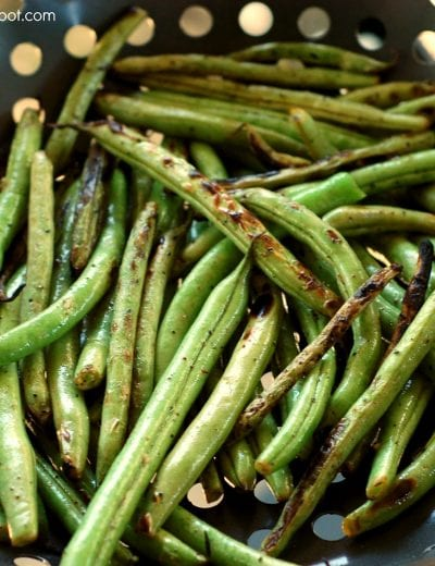 Grilled Lemon-Garlic Green Beans