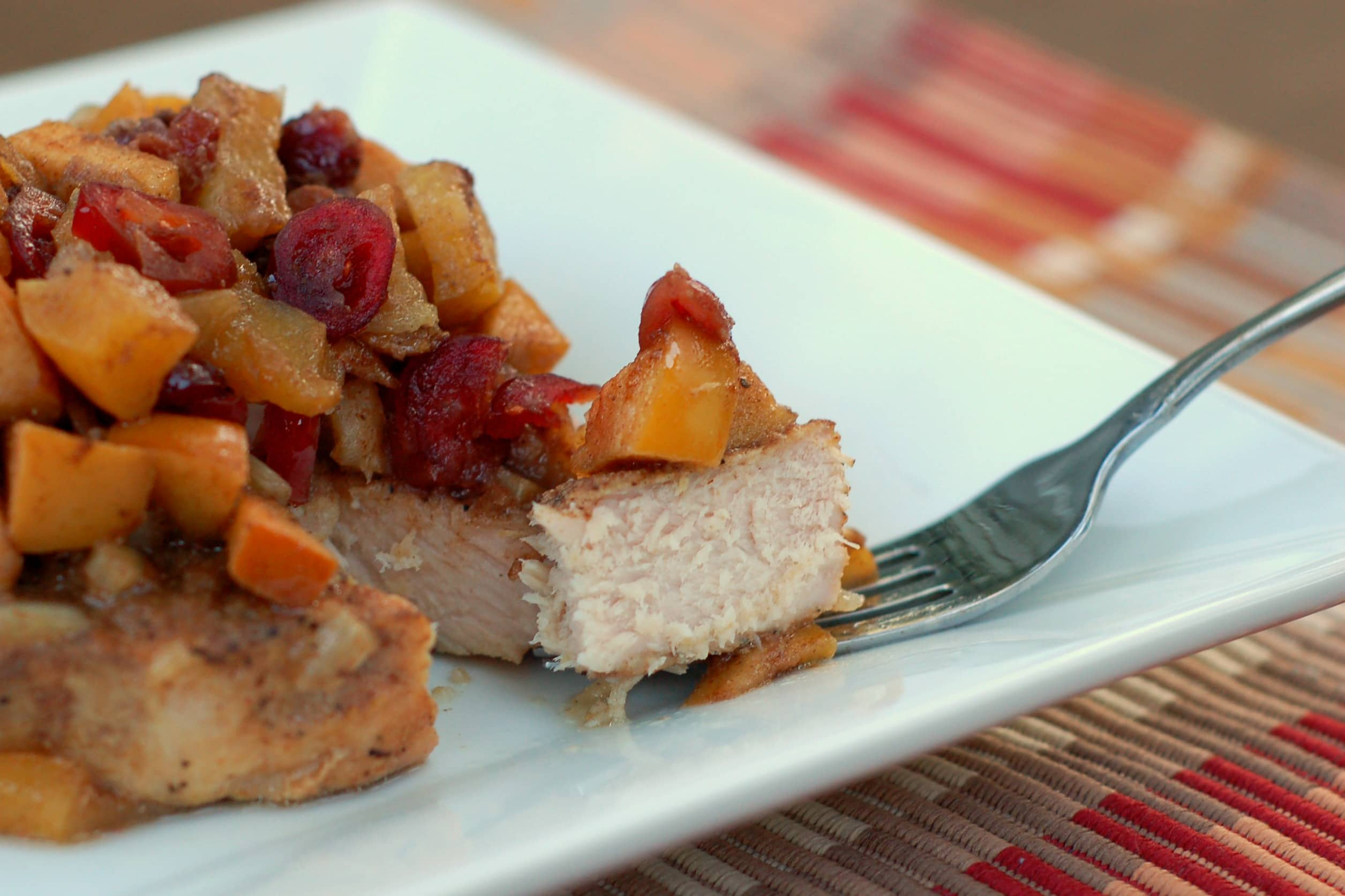 Crock Pot Pork Chops with Ginger-Apple Chutney - A Kitchen Addiction