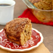 {A Kitchen Addiction} Cinnamon Maple Pumpkin Coffee Cake