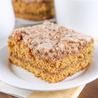 Cinnamon Maple Pumpkin Coffee Cake