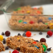 Monster Cookie Granola Bars {a-kitchen-addiction.com}