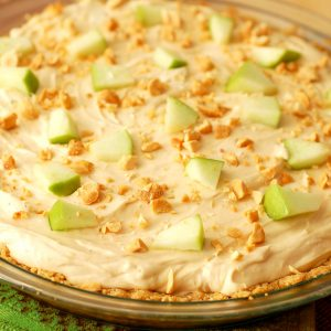 Peanut Butter & Apple Oatmeal Cookie Cheesecake