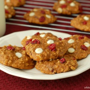 Pumpkin White Chocolate Cranberry Cookies