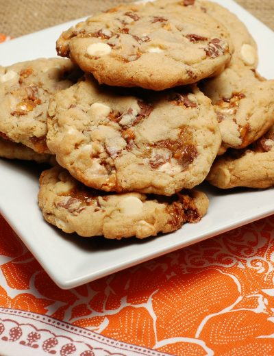 Snickers White Chip Cookies