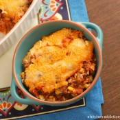 {A Kitchen Addiction} Southwestern Stuffed Pepper Casserole