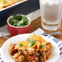 Southwestern Stuffed Pepper Casserole