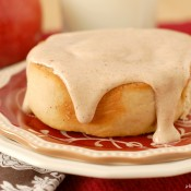 {A Kitchen Addiction} Apple Cinnamon Rolls w/Cider Cream Cheese Frosting
