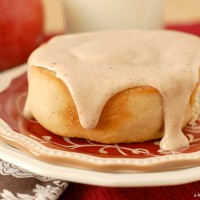 Apple Cinnamon Rolls with Cider Cream Cheese Frosting