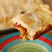 {A Kitchen Addiction} Glazed Apple Pan Pie