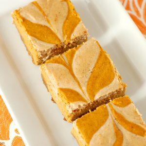 Chai Spiced Pumpkin Cheesecake Bars