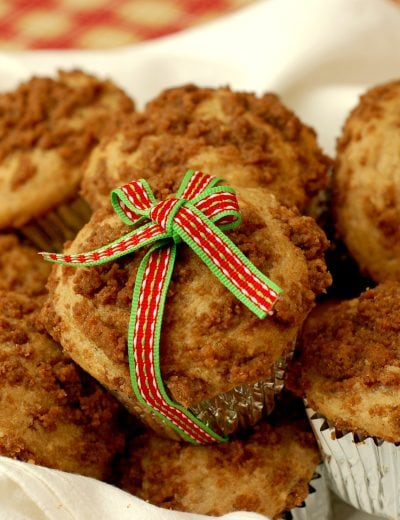 Eggnog Muffins with Gingersnap Streusel