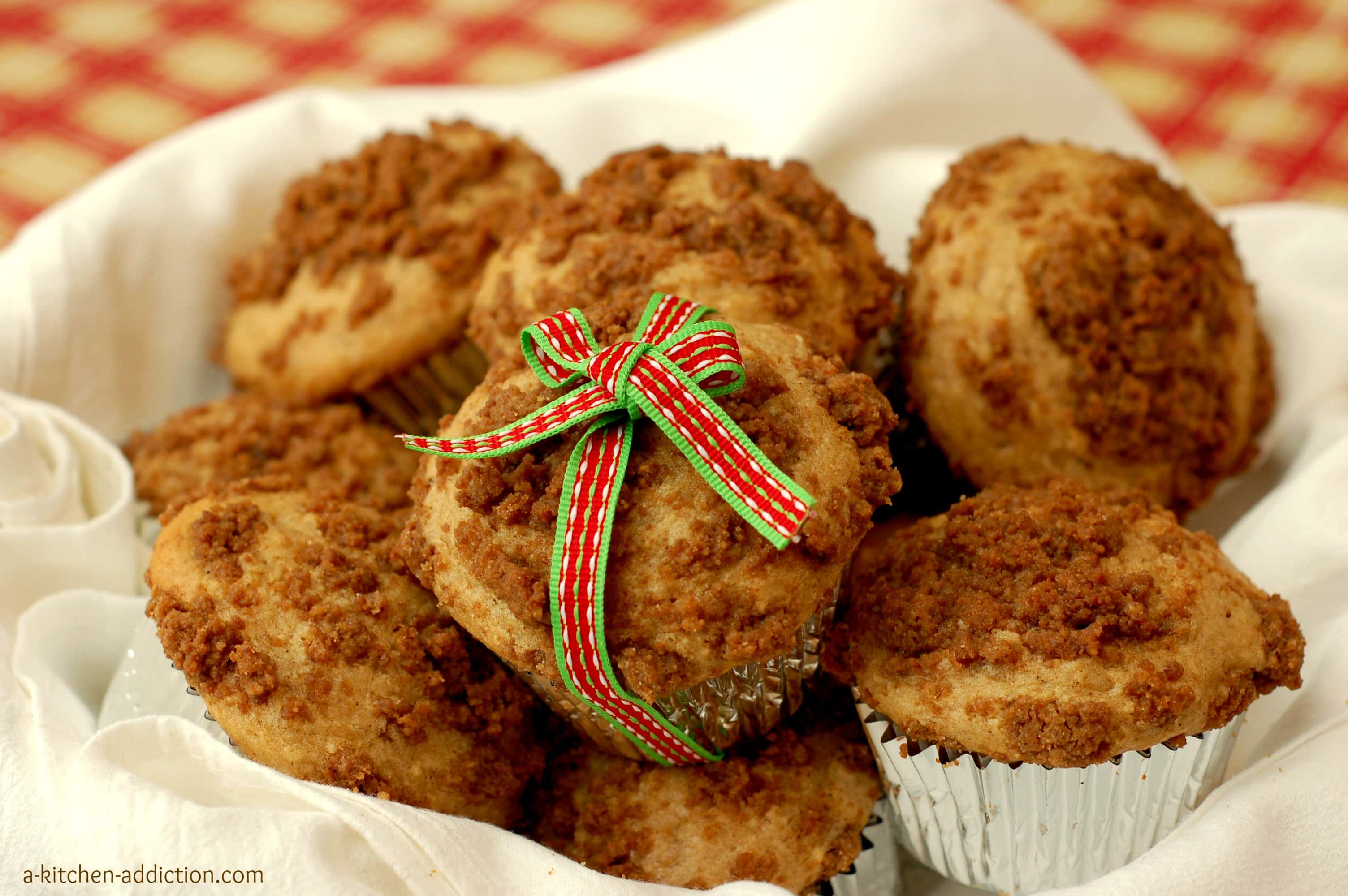 Eggnog Muffins with Gingersnap Streusel - A Kitchen Addiction