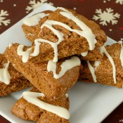 {A Kitchen Addiction} Gingerbread Scones