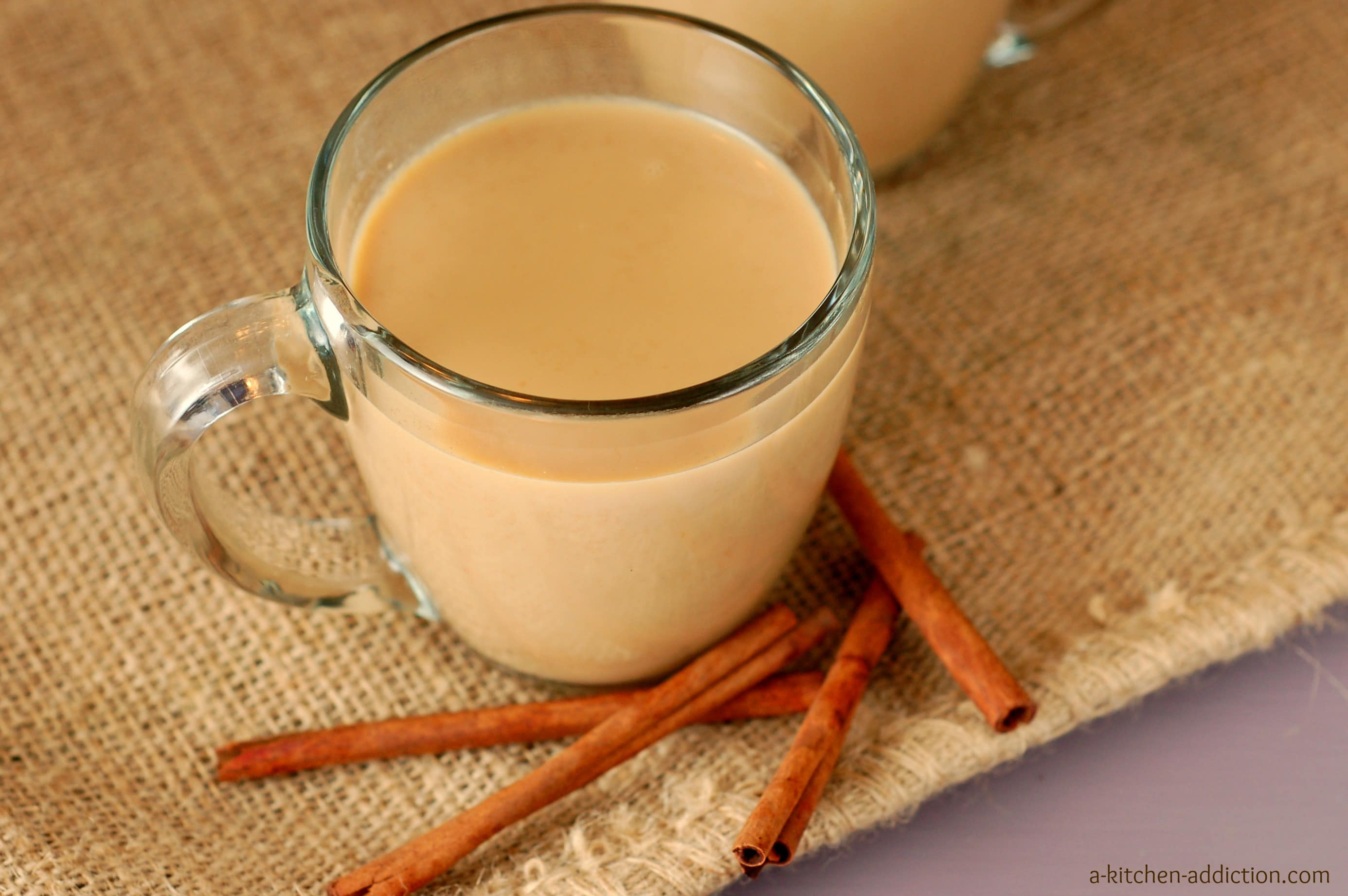 Pumpkin Eggnog Chai - A Kitchen Addiction