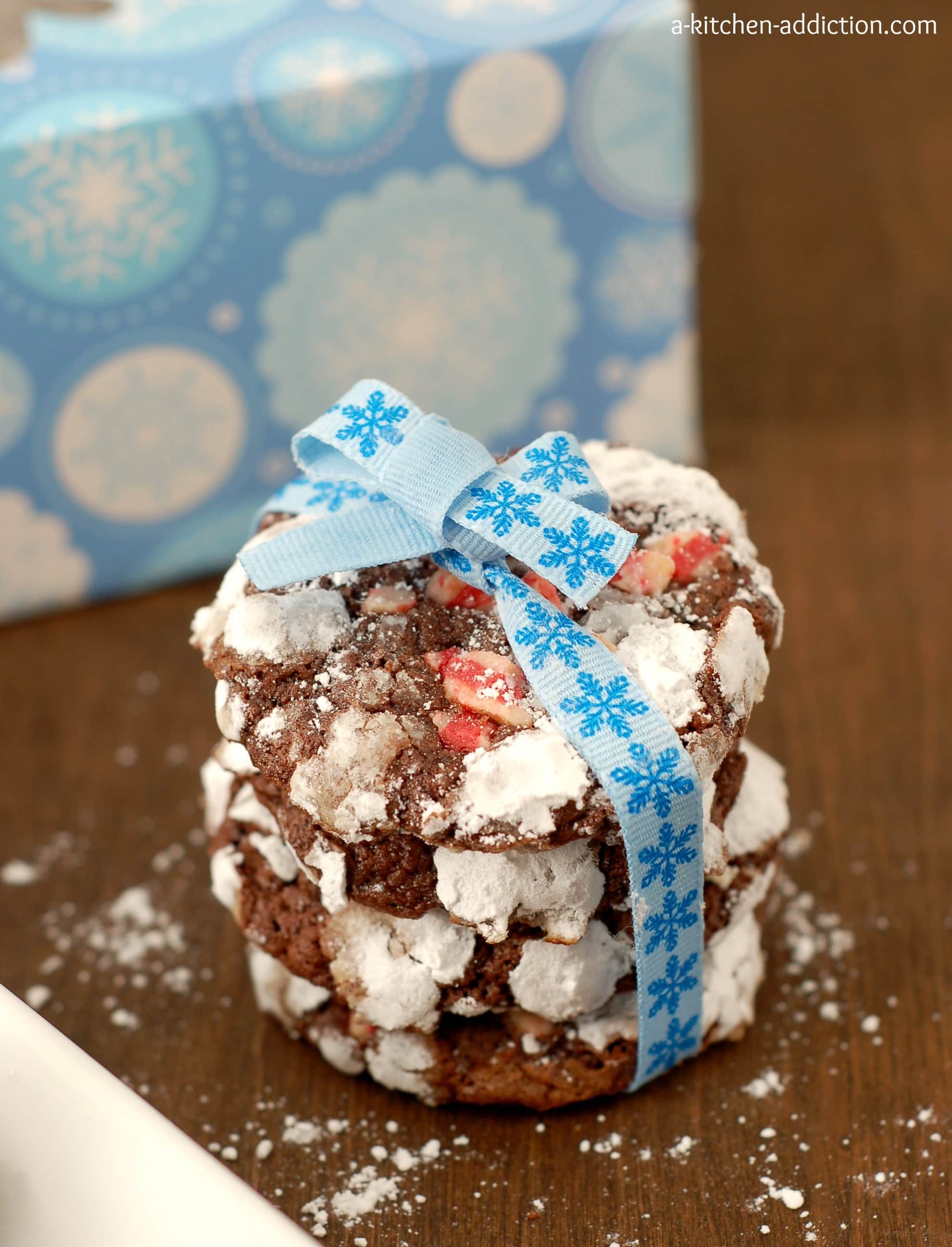 Chocolate Peppermint Crackle Cookies A Kitchen Addiction