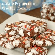 choc peppermint crackle cookies w words