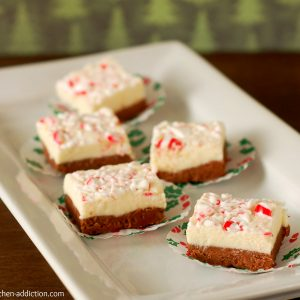Chocolate Peppermint Layered Fudge