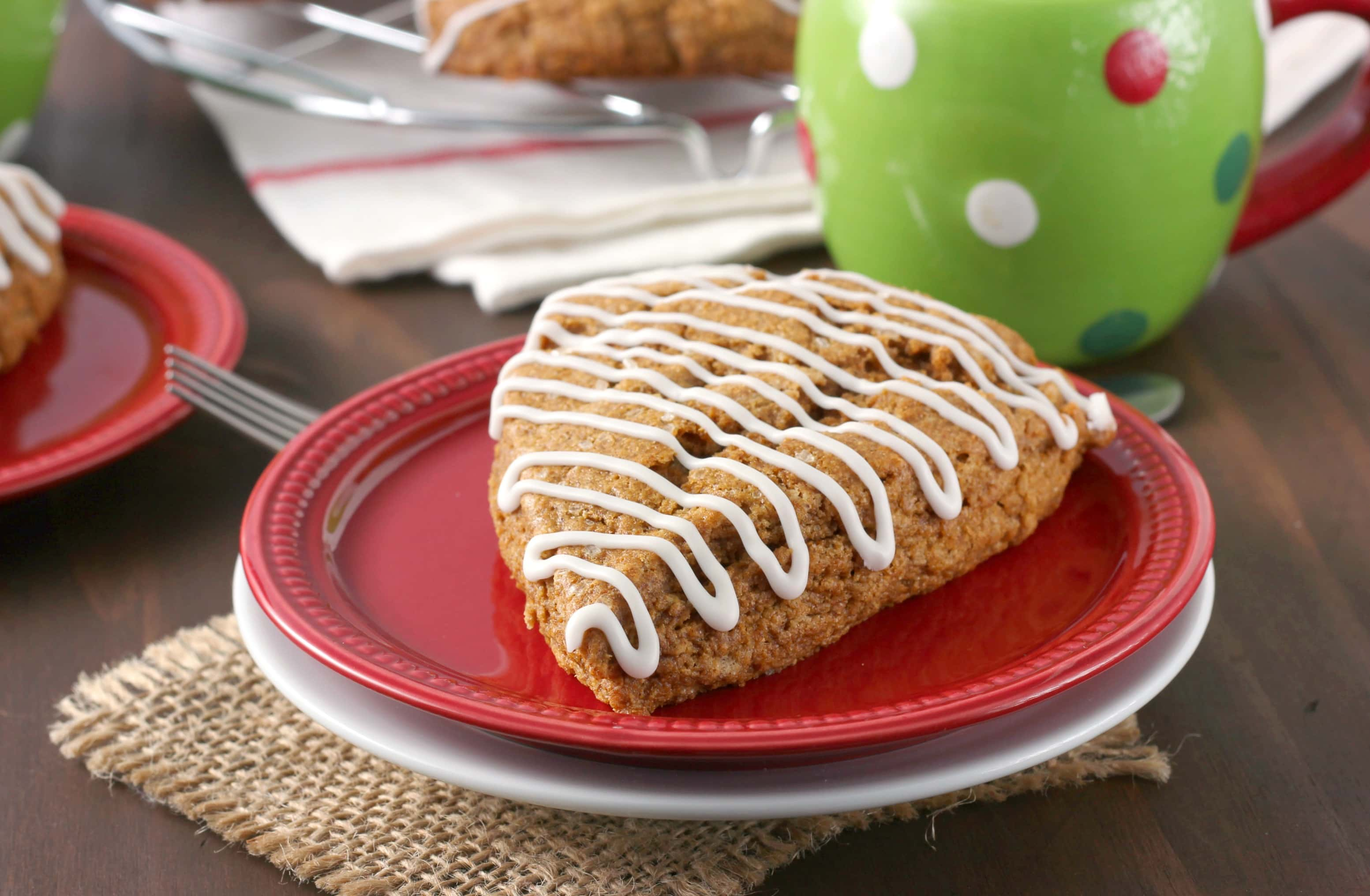 Gingerbread Scones Recipe from A Kitchen Addiction
