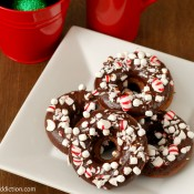 {A Kitchen Addiction} Peppermint Hot Chocolate Donuts