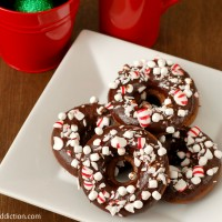 Peppermint Hot Chocolate Donuts