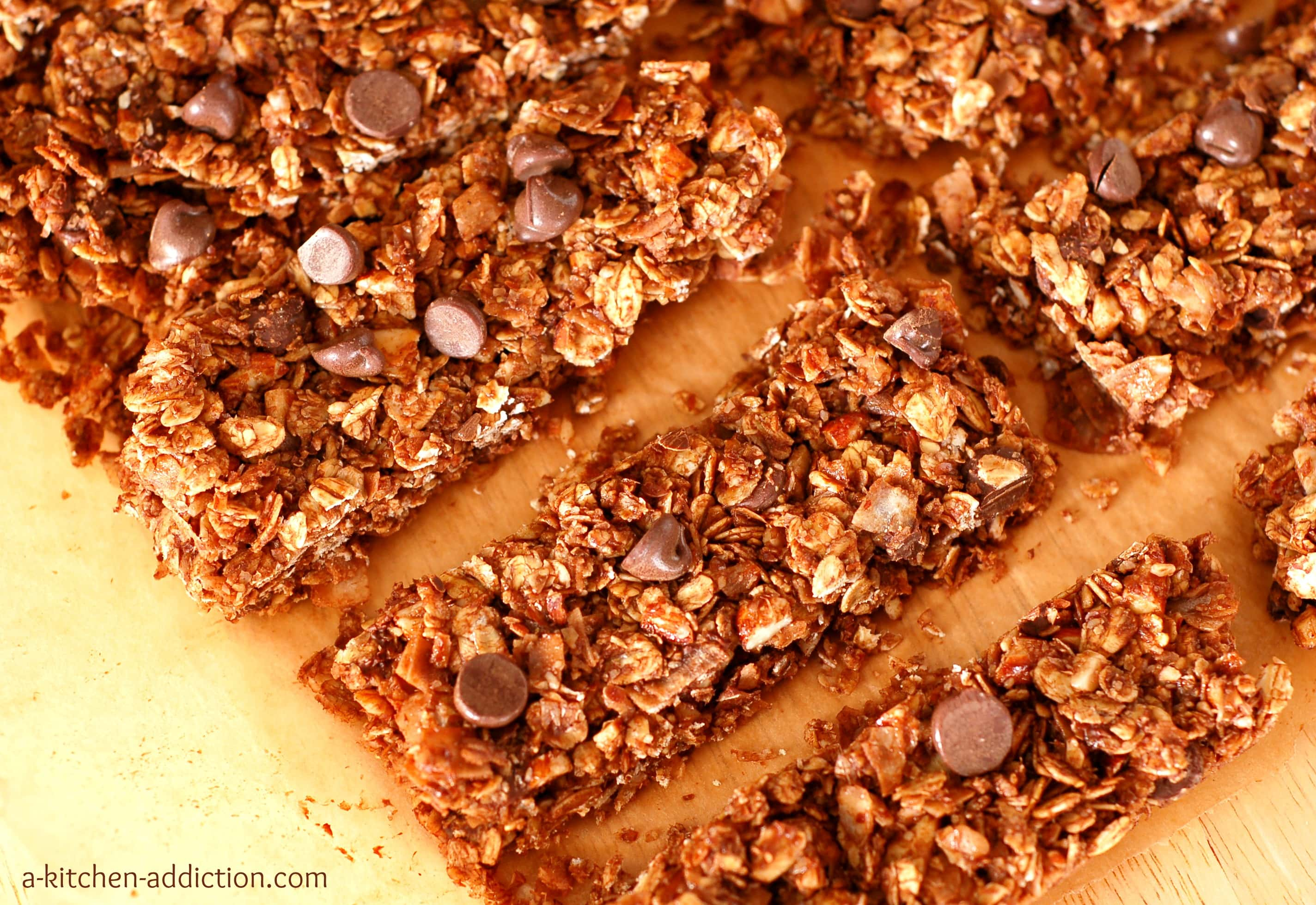 Almond Joy Granola Bars from www.a-kitchen-addiction.com (a healthy ...