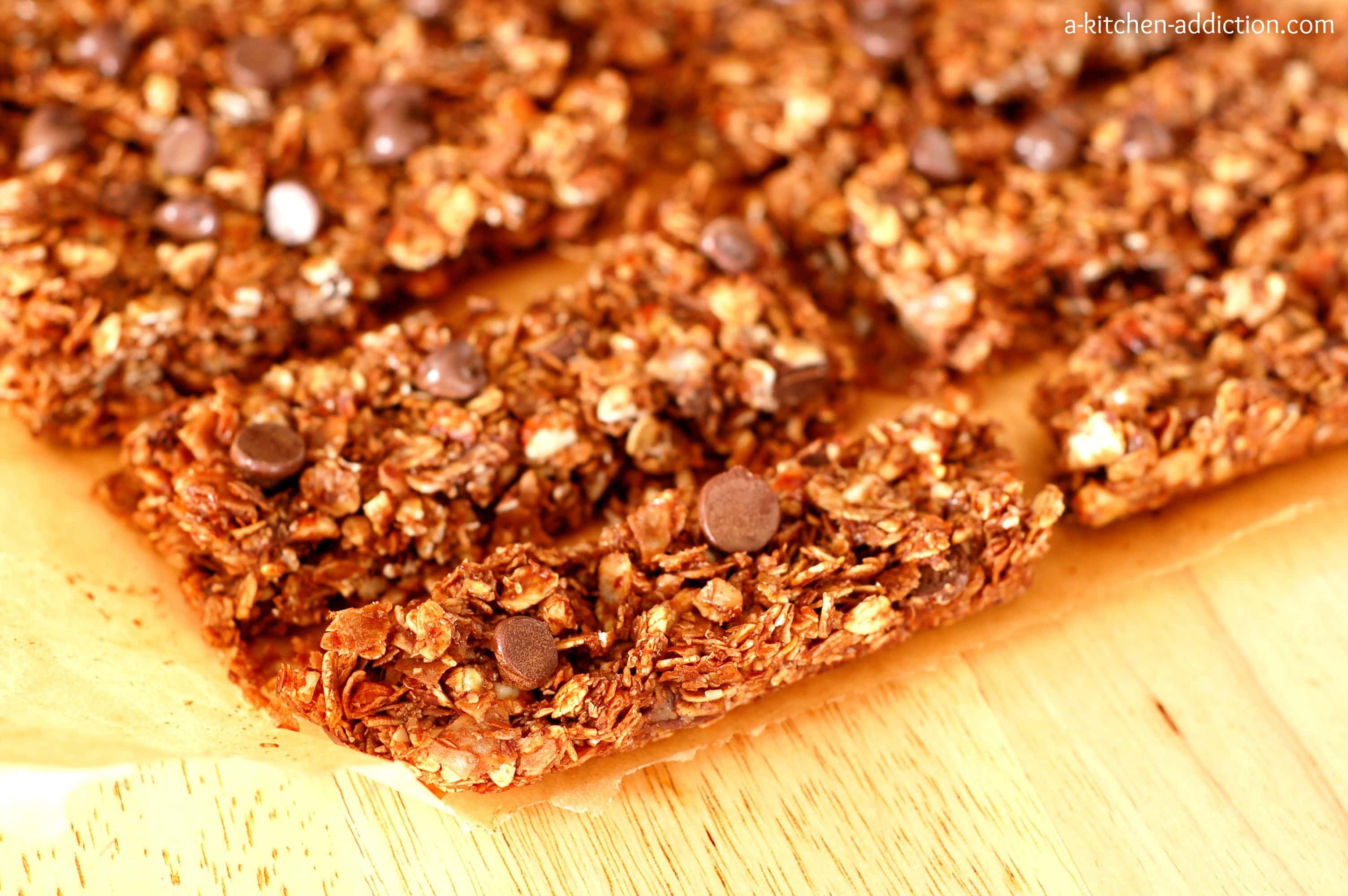 Almond Joy Granola Bars from www.a-kitchen-addiction.com