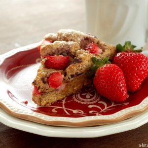 Strawberry & Dark Chocolate Chunk Wheat Scones