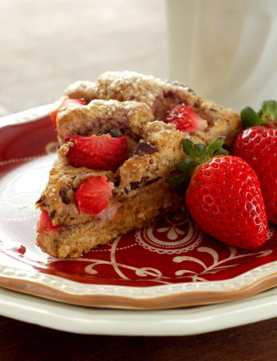 Strawberry & Dark Chocolate Chunk Wheat Scones