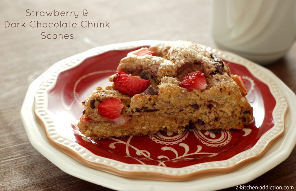Strawberry & Dark Chocolate Chunk Scones