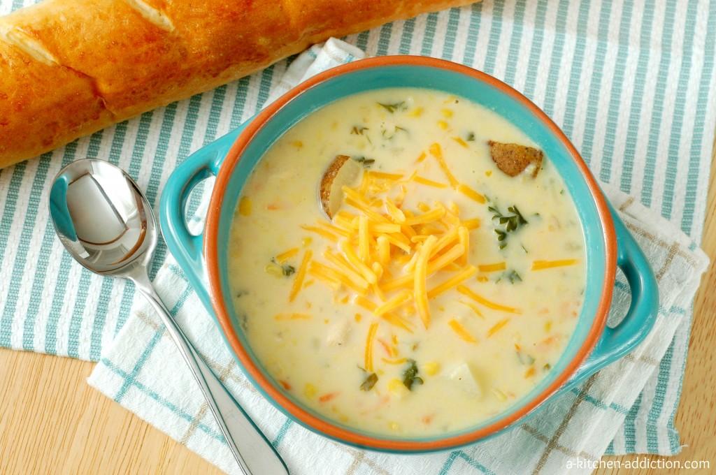 Crock Pot Chicken Corn Chowder #recipe