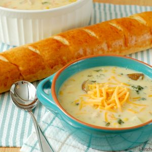 Crock Pot Chicken Corn Chowder #recipe