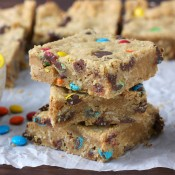 Monster Cookie Bars Recipe from A Kitchen Addiction
